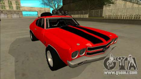 Chevrolet Chevelle Rusty Rebel for GTA San Andreas bottom view