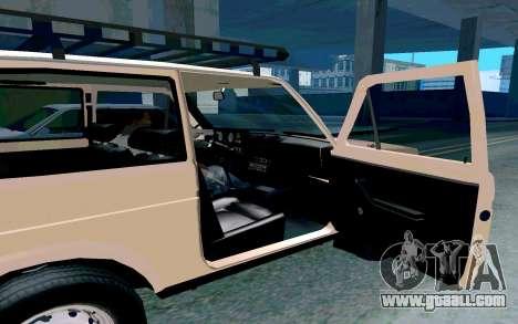 VAZ Niva for GTA San Andreas inner view