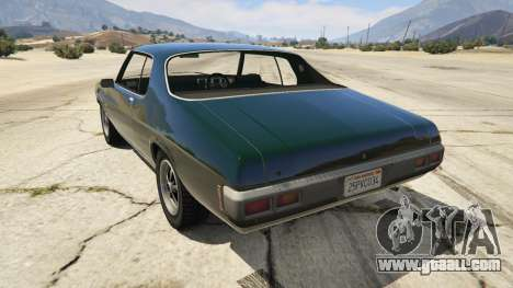 GTA 5 Holden HQ GTS Monaro rear left side view