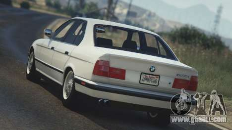 GTA 5 BMW 535i E34 rear left side view
