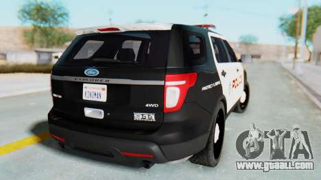 Ford Explorer Police for GTA San Andreas left view