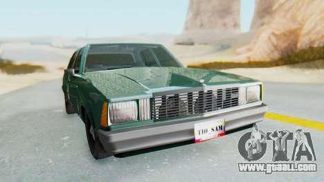 Chevrolet Malibu 1981 Twin Turbo for GTA San Andreas right view