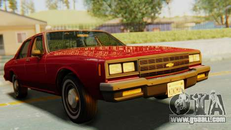 Chevrolet Impala 1984 for GTA San Andreas right view