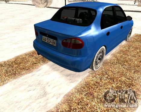 Daewoo Lanos 2001 Winter for GTA San Andreas right view
