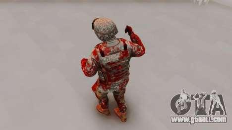 Zombie Military Skin for GTA San Andreas third screenshot