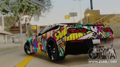Chevrolet Corvette Stingray C7 2014 Sticker Bomb for GTA San Andreas left view