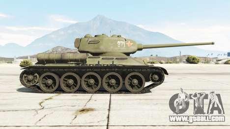 GTA 5 T-34-85 left side view