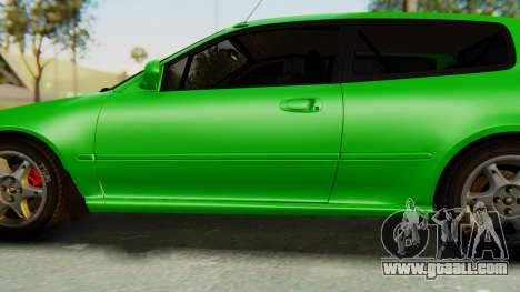 Honda Civic Vti 1994 V1.0 for GTA San Andreas wheels
