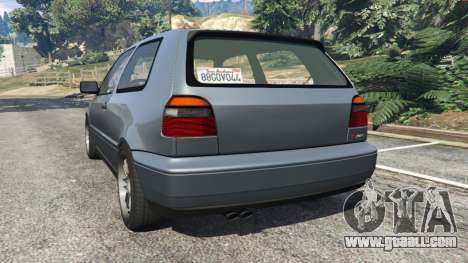 GTA 5 Volkswagen Golf Mk3 VR6 1998 Highline DTD v1.0a rear left side view