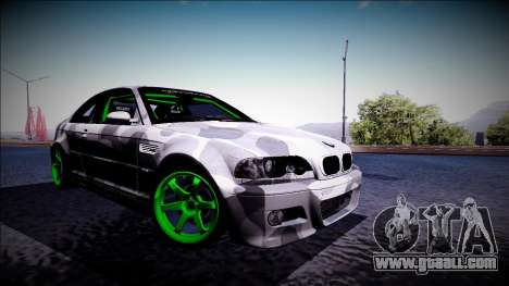 BMW M3 E46 Drift Monster Energy for GTA San Andreas left view