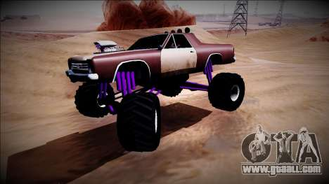 Picador Monster Truck for GTA San Andreas inner view