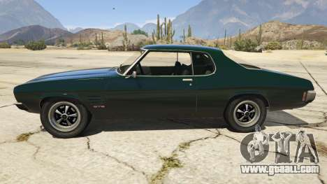 GTA 5 Holden HQ GTS Monaro left side view