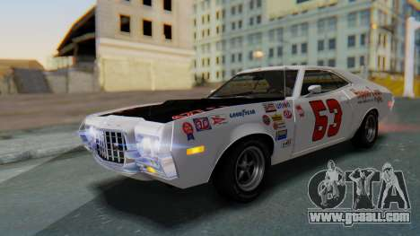 Ford Gran Torino Sport SportsRoof (63R) 1972 PJ2 for GTA San Andreas upper view