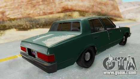 Chevrolet Malibu 1981 Twin Turbo for GTA San Andreas back left view
