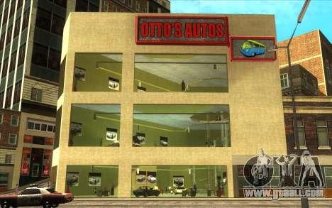 The revival of car dealership Ottos autos for GTA San Andreas