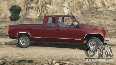 GTA 5 GMC Sierra 2500 Extended Cab 1992 [Beta] left side view