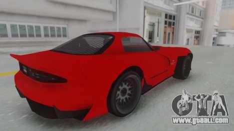 GTA 5 Bravado Banshee 900R Stock for GTA San Andreas back left view