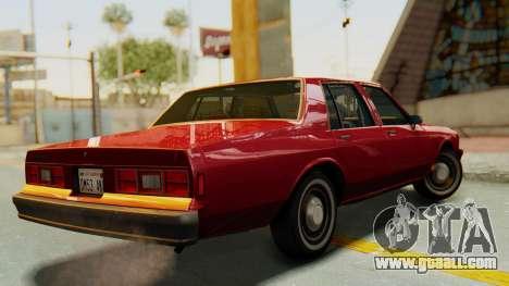 Chevrolet Impala 1984 for GTA San Andreas left view