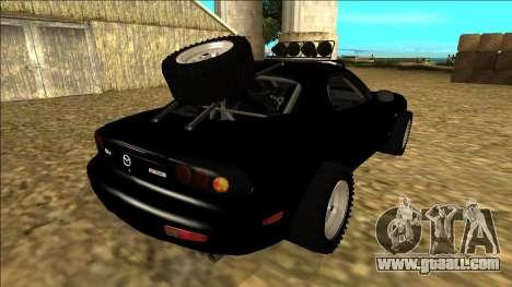 Mazda RX-7 Rusty Rebel for GTA San Andreas back view