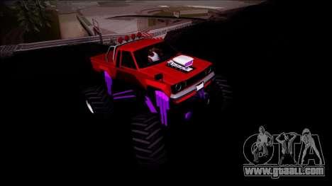 GTA 5 Karin Rebel Monster Truck for GTA San Andreas inner view