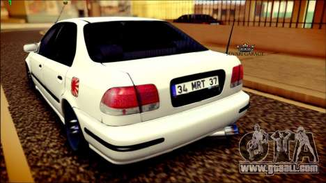 Honda Civic by Snebes for GTA San Andreas back left view
