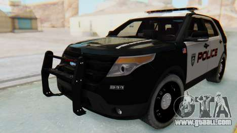 Ford Explorer Police for GTA San Andreas back left view
