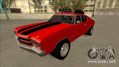 Chevrolet Chevelle Rusty Rebel for GTA San Andreas side view