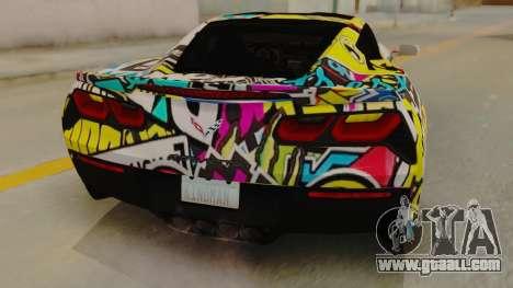 Chevrolet Corvette Stingray C7 2014 Sticker Bomb for GTA San Andreas back view