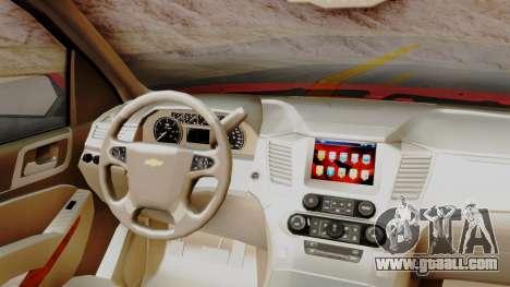Chevrolet Suburban 2015 LTZ for GTA San Andreas right view