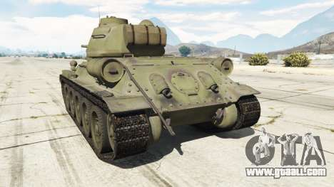 GTA 5 T-34-85 rear left side view
