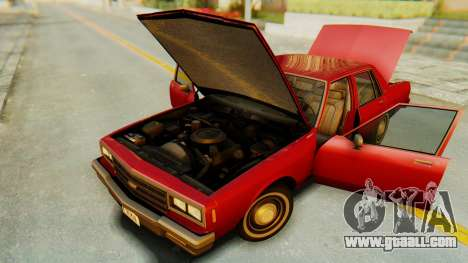 Chevrolet Impala 1984 for GTA San Andreas inner view