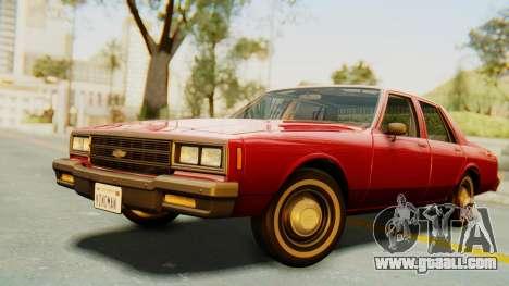 Chevrolet Impala 1984 for GTA San Andreas