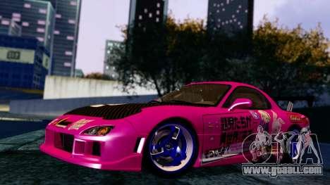 Mazda RX-7 Itasha for GTA San Andreas
