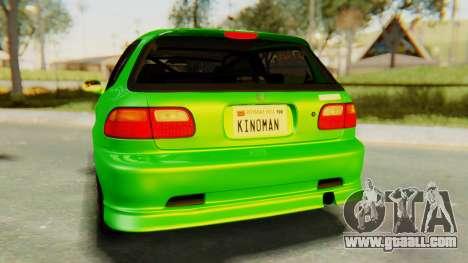 Honda Civic Vti 1994 V1.0 for GTA San Andreas inner view