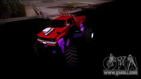 GTA 5 Karin Rebel Monster Truck for GTA San Andreas back view