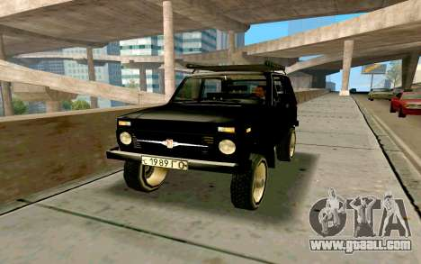 VAZ Niva for GTA San Andreas bottom view