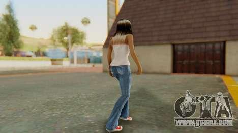 Blonde White Top for GTA San Andreas third screenshot