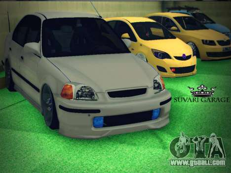 Honda Civic by Snebes for GTA San Andreas inner view