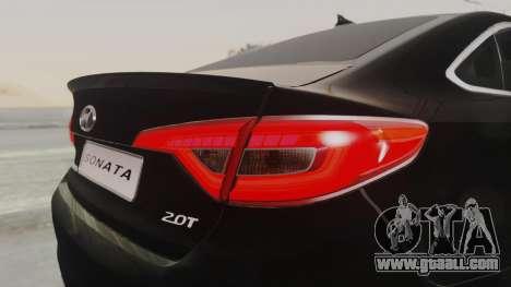 Hyundai Sonata Turbo 2.0 2015 V1.0 Final for GTA San Andreas side view