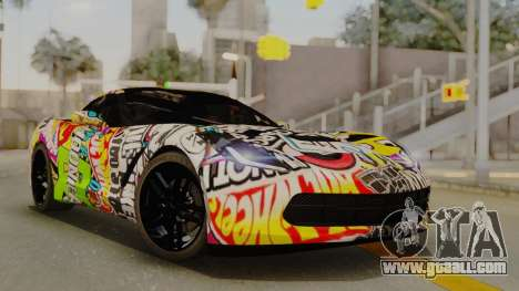 Chevrolet Corvette Stingray C7 2014 Sticker Bomb for GTA San Andreas