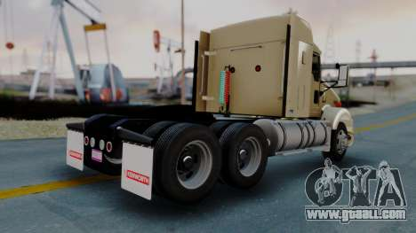 Kenworth T800 38s Flat Top for GTA San Andreas back left view