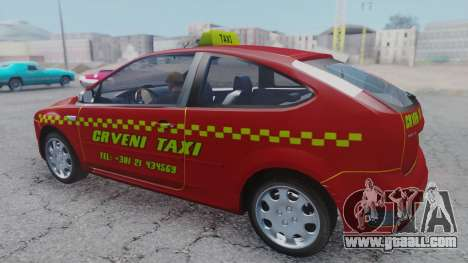 Ford Focus ST Taxi for GTA San Andreas back left view