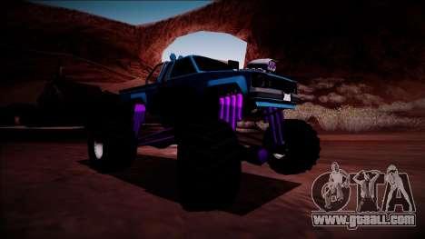GTA 5 Karin Rebel Monster Truck for GTA San Andreas back left view