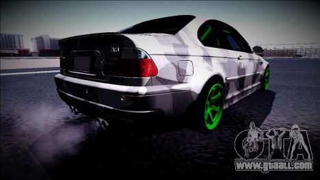 BMW M3 E46 Drift Monster Energy for GTA San Andreas back left view