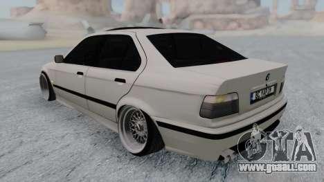 BMW 3-er E36 for GTA San Andreas back left view