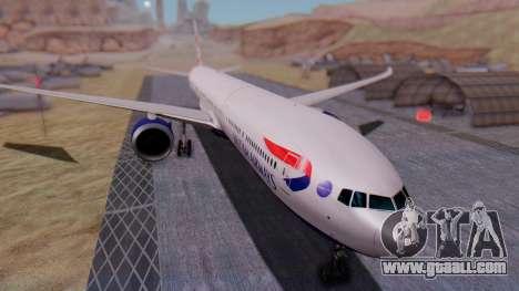 Boeing 777-9x British Airways for GTA San Andreas