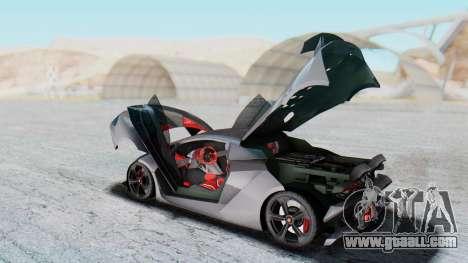 Lamborghini Sesto Elemento 2010 for GTA San Andreas inner view