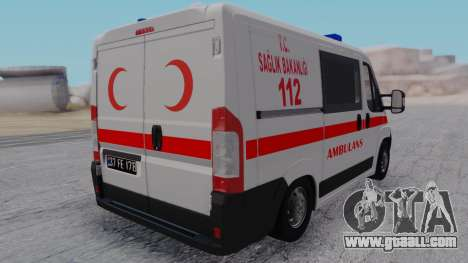 Fiat Ducato Turkish Ambulance for GTA San Andreas left view