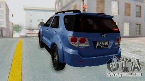 Toyota Fortuner TRD Sportivo Vossen for GTA San Andreas left view
