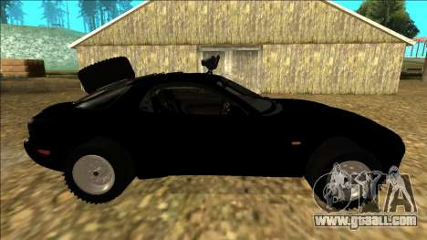Mazda RX-7 Rusty Rebel for GTA San Andreas inner view
